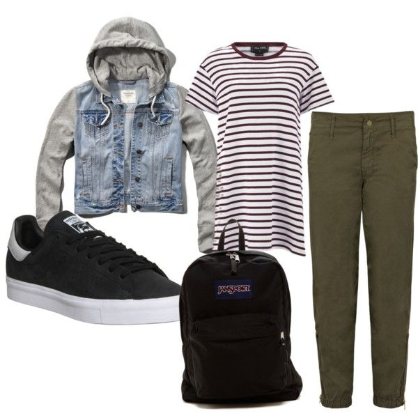 a little bit boyish? by ilmadhinautari on Polyvore featuring polyvore fashion style The Fifth Label Abercrombie & Fitch Mother adidas JanSport