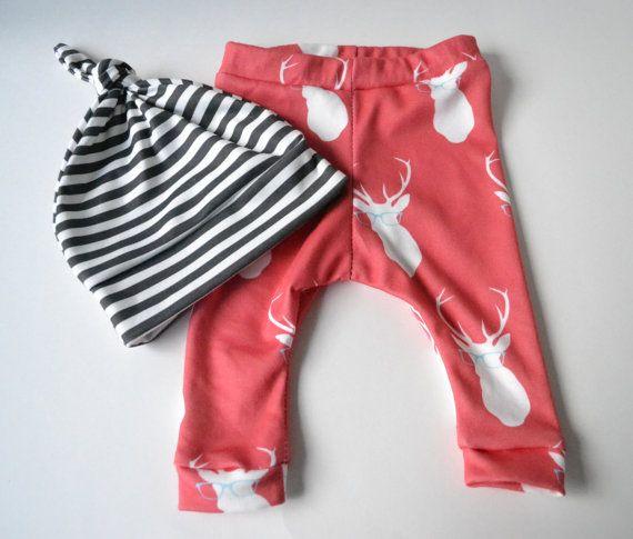 Baby Leggings Deer baby girl pants by TheLinebyAleMulcahy. So cute!