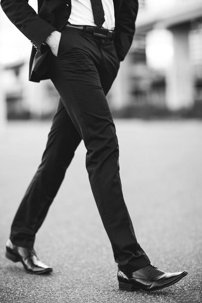 Fitted trousers & slick shoes -- #menswear