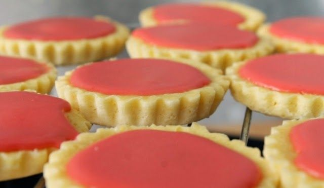 roze koeken, glacé koeken