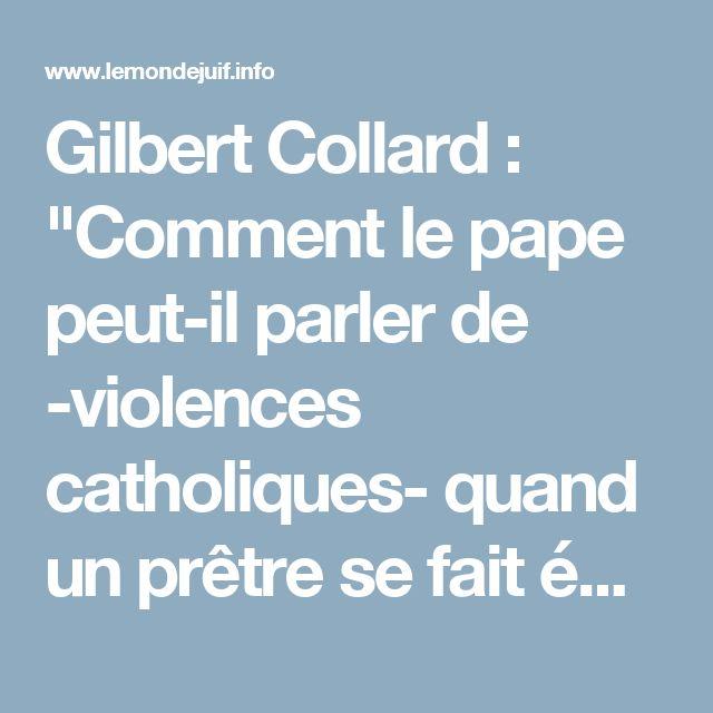 """Gilbert Collard : """"Comment le pape peut-il parler de -violences catholiques- quand un prêtre se fait égorger et un autre poignarder ?"""" - Le…"""