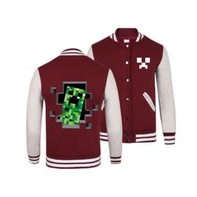 Baseball Jacket Minecraft Game Apparel | IdolStore