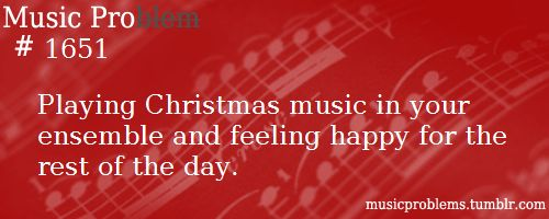 Or getting it stuck in your head for the rest of the day, but you know, how could you be sad with Christmas music!!! :D