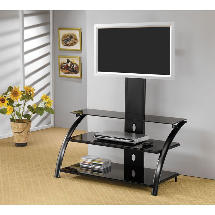 Monarch Metal/ Tempered 42-inch TV Stand with Bracket
