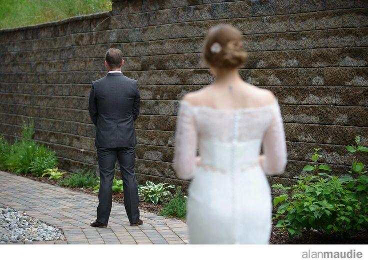 First look, Reveal, Wedding.  Golden B.C. Wedding, Bride and Groom, Kicking Horse Mountain Resort Wedding Photographer