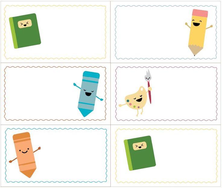 La Super Mamy: Etiquetas para los libros y cuadernos del cole