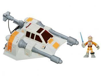 Star Wars Playskool - Snowspeeder - com Luke Skywalker - Hasbro