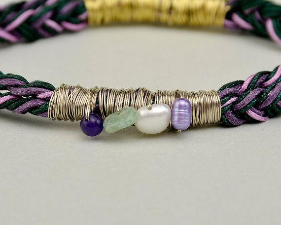 Colorful cord bangle custom cord bracelet by ColorLatinoJewelry