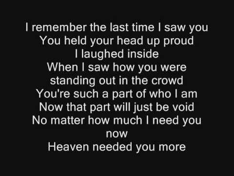 Jo Dee Messina -  If Heaven Was Needing A Hero-played this at my husband's funeral 5/12/2012-missing him so much...