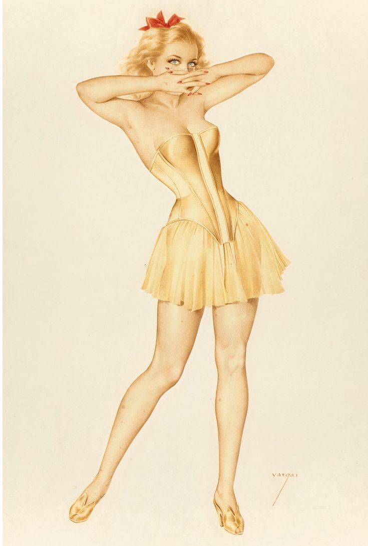 "Alberto Vargas, ""October,"" The Varga Girl calendar illustration, October 1948"