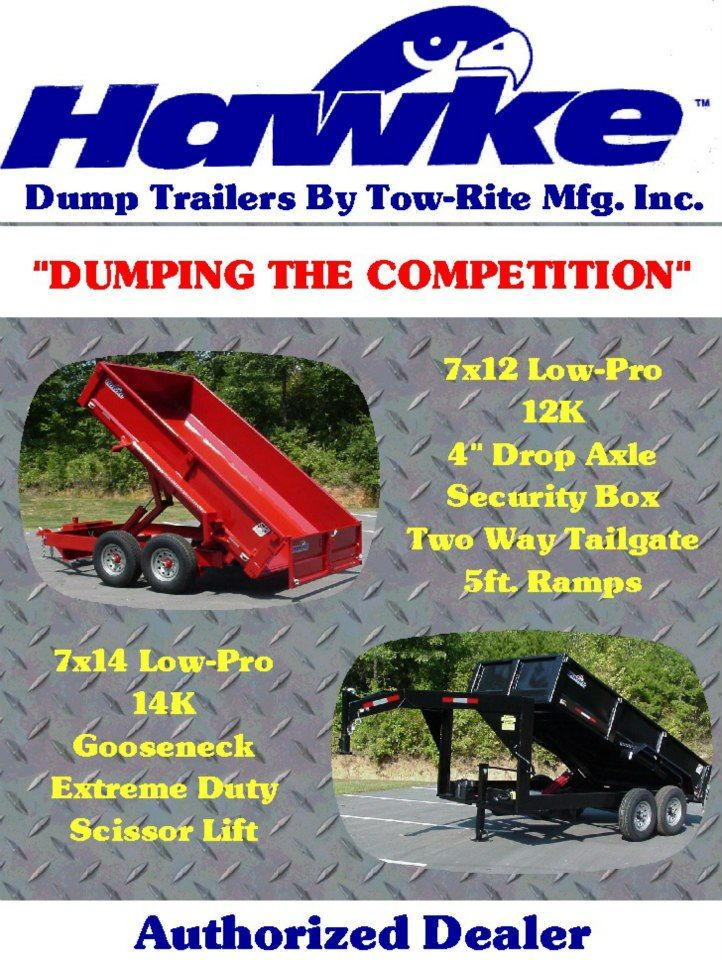 Hawke Dump Trailers Gooseneck And Bumper Pull