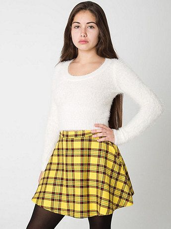 American Apparel Plaid Circle Skirt Cher from Clueless