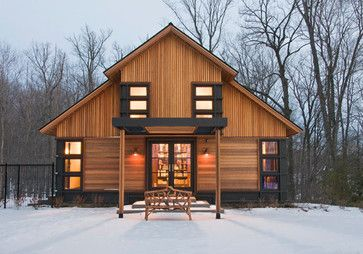 Exterior modern cottage Design Ideas, Pictures, Remodel and Decor