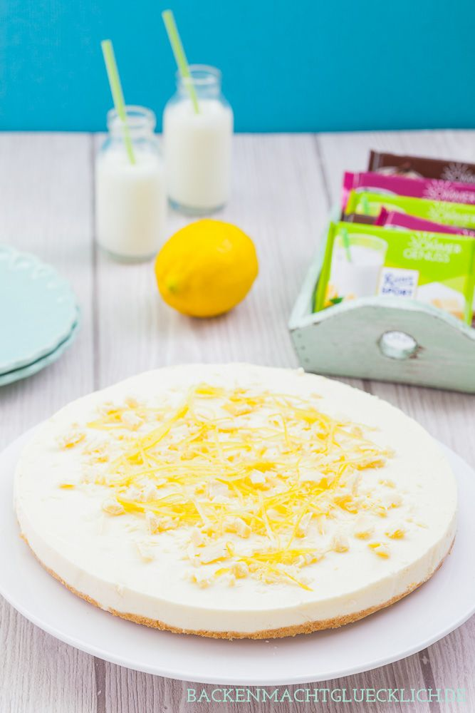 Erfrischende Kühlschranktorte für den Sommer: Zitronen-Buttermilch-Torte ohne Backen   www.backenmachtgluecklich.de