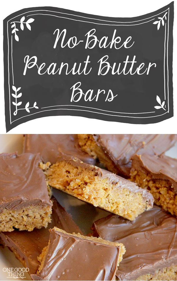 My All-Time Favorite Treat . . . No-Bake Peanut Butter Bars