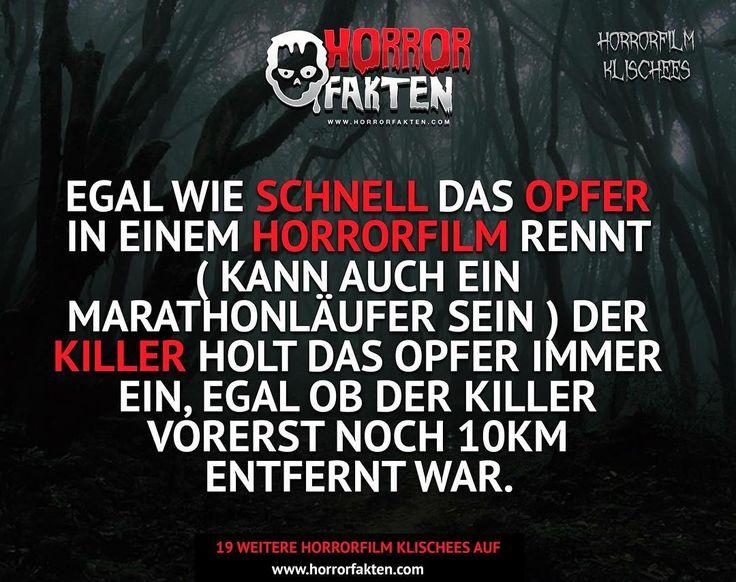 ❝19 weitere Horror Film Klischees auf www.horrorfakten.com - Link in der Bio❞  #horrorfakten
