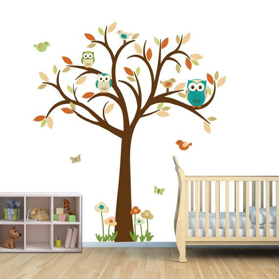 Owl Decal Owl Tree Wall Sticker Owl Wall By StickItDecalDesigns, $88.00