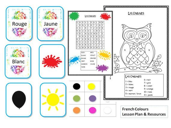 French Colours Lesson Plan and Resources by FrenchResourcesByJo