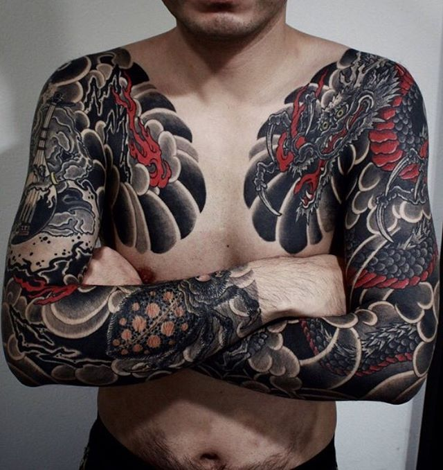 "1,541 Likes, 4 Comments - Japanese Ink (@japanese.ink) on Instagram: ""Japanese tattoo sleeves by @gotch_tattoo.  #japaneseink #japanesetattoo #irezumi #tebori…"""