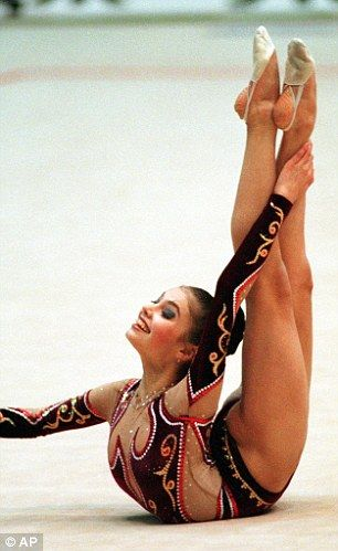 Alina Kabaeva - It was this lady who got me interested to watch rhythmic gymnastics.  some of her 'contortions' are beyond normal.