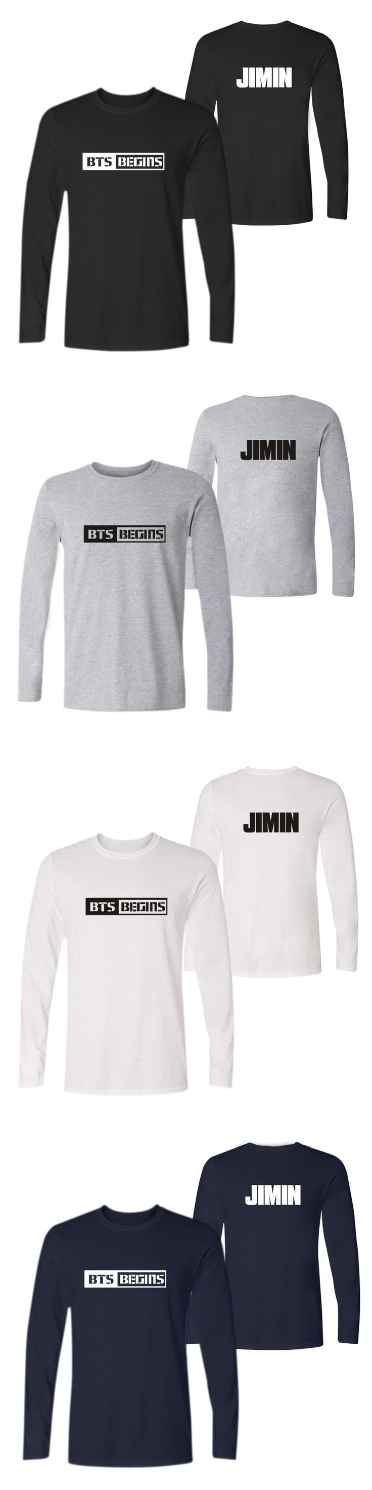 2016 Unisex BTS T-Shirts Slim Number Letter Print Black t shirt Women Tops 2016 Long Sleeve Casual Tees Clothing ropa mujer