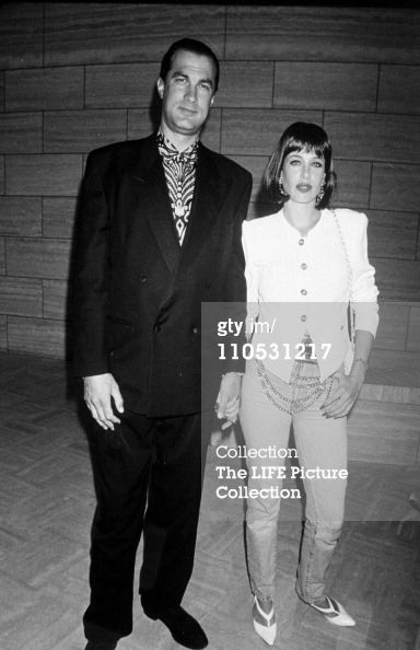 Steven Seagal and wife Kelly Le Brock