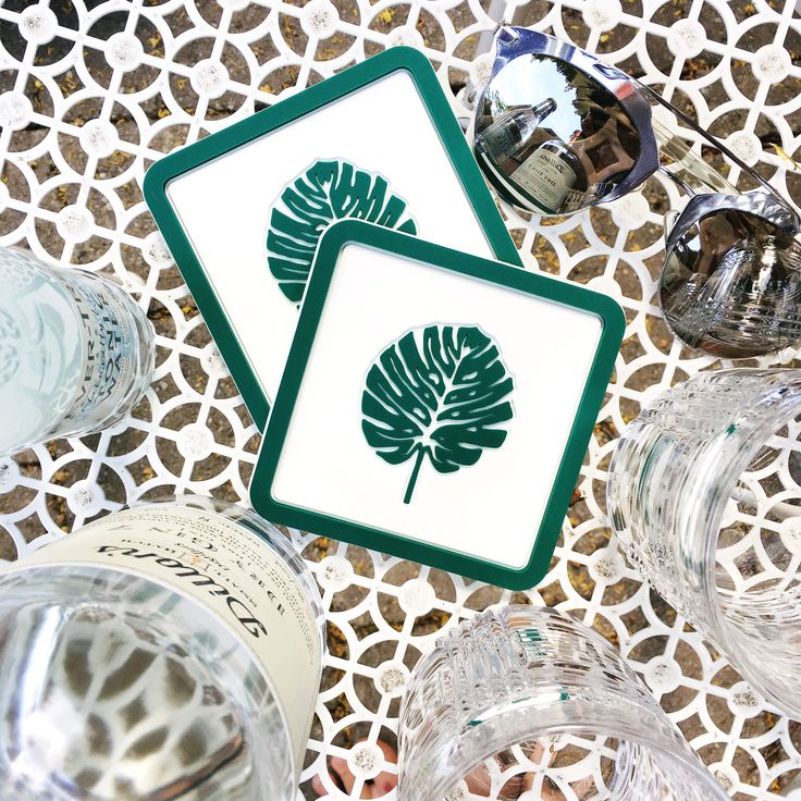 G&T time! With the Vessel Coasters Monstera coaster