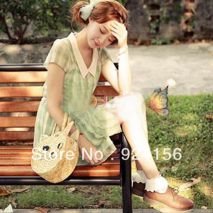 5pairs/lot schattig vintage kant ruche frilly sokken mode dames prinses meisje gift, gemengde kleur beschikbaar