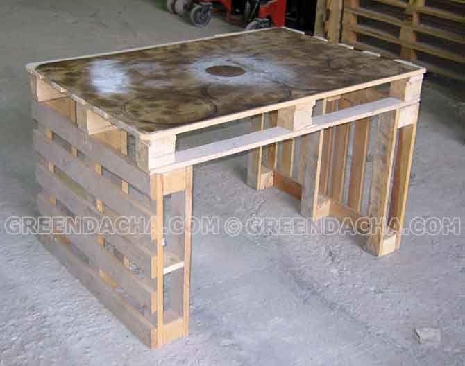 Делаем стол из поддонов - 3