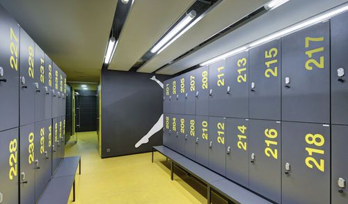 HPL locker / for public pools / for sports clubs Hebe - Laminate Lockers ATEPAA