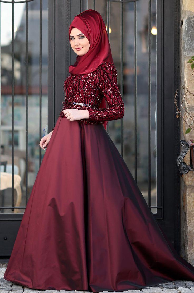 Som Fashion - Bordo - Esra Tafta Abiye