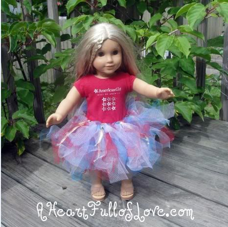 Patriotic American Girl Tutu � Make a Tutu for an 18 Inch