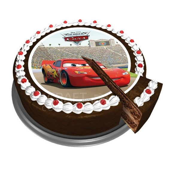 disney cars sugar disc cake topper is perfect for any disneys cars fans celebration cake
