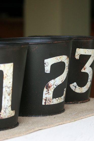 Make your own Pottery Barn inspired pails. #DIY #Decorating #Organizing