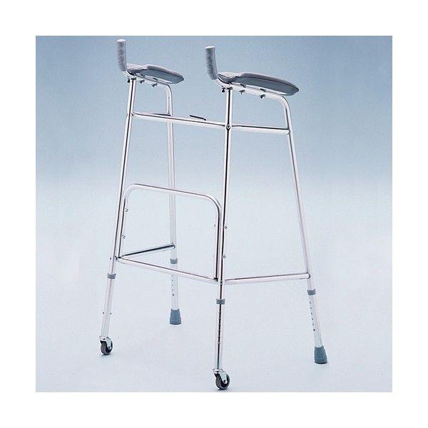 Caminador con Soporte de Antebrazo. Andador con soportes de antebrazos acolchado y puños ajustables en largo e inclinación, para personas con problemas de movilidad reducida en manos o brazos.
