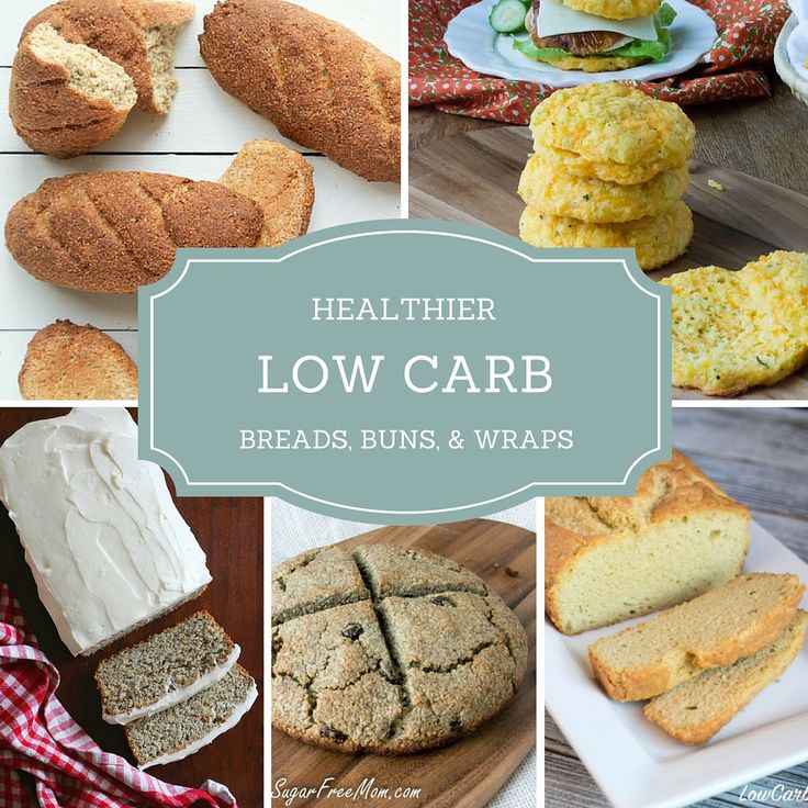 HEALTHIER, LOW CARB BREADS, BUNS, AND WRAPS