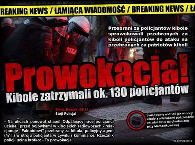 Narodowy demonstrant przez pomyłkę zaatakował dziennikarza Ruchu Narodowego - Joe Monster
