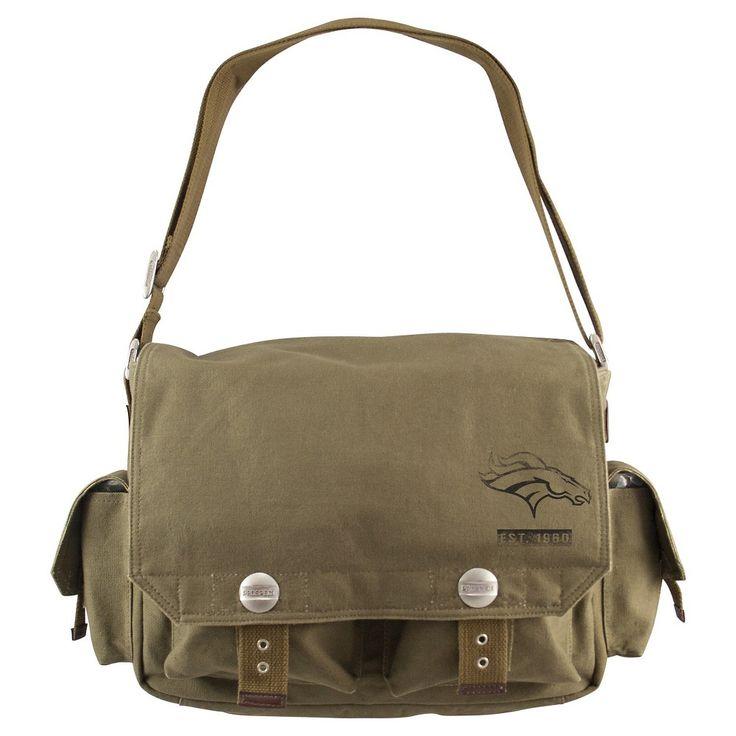 Denver Broncos Little Earth Prospect Messenger Bag, Olive Drab