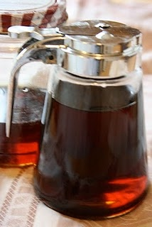 Homemade pancake syrup. From the tightwad gazette.