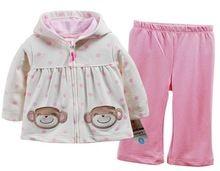 Arabacılarla marka, yeni 2015, sonbahar kış giyim grubu, yenidoğan, infantil kız giysi, kız bebek giyim, maymun nokta tarzı, çocuk hoodies(China (Mainland))