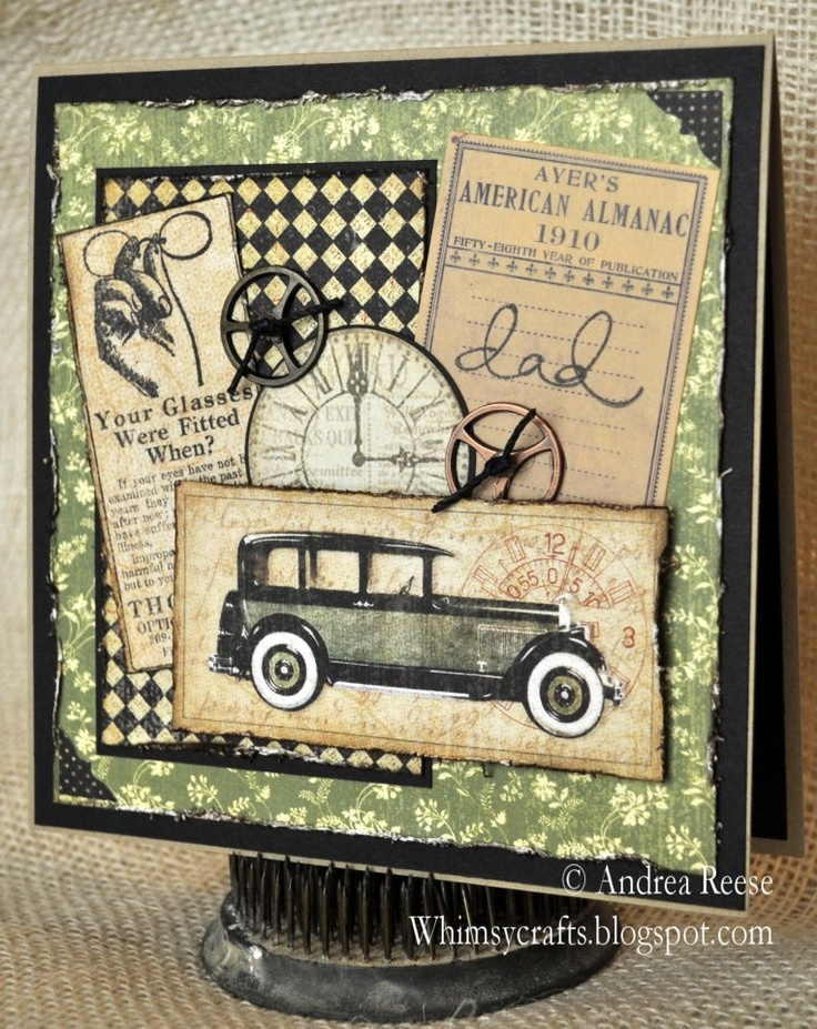 This wonderful Father's Day card is by @Andrea / FICTILIS Callich Reese where she combined a few of our collections to make this amazing card. Beautiful! #graphic45 #cards