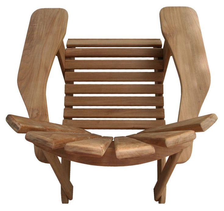 Garden chair top view