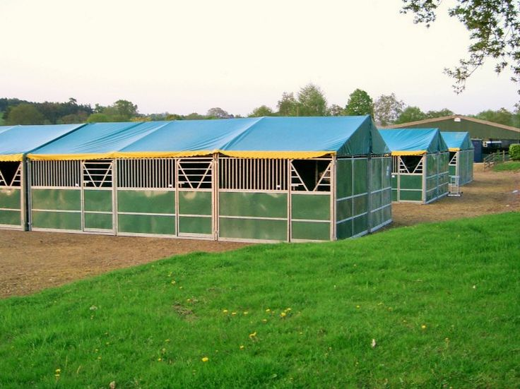 A field of hyppic# temporary #stables ahead of an event