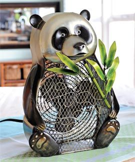 Whimsical Panda Fan (was $99.98 now $94.90) approx 10-1/2 wide x 14-1/2