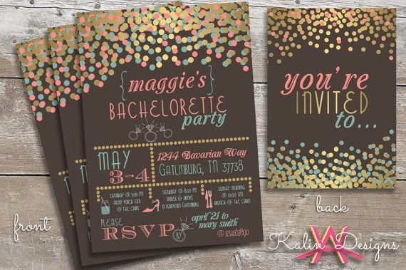 Printable Bachelorette Party Invitation | Custom Digital File