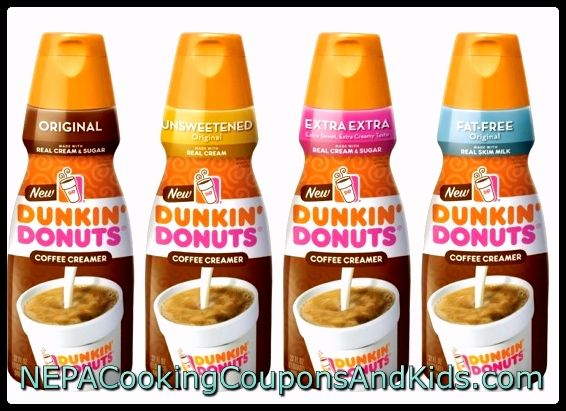 Dunkin' Donuts Creamer $2.49 each when you buy two
