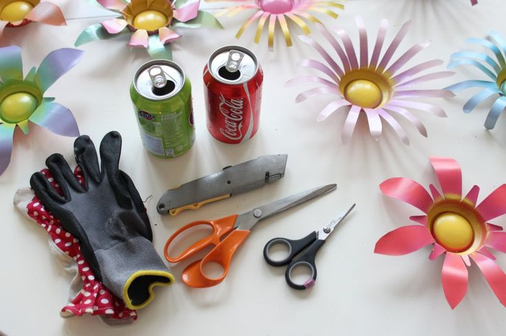 DIY Soda Can Flowers