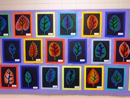 Nice idea for warm/cool colors lesson.