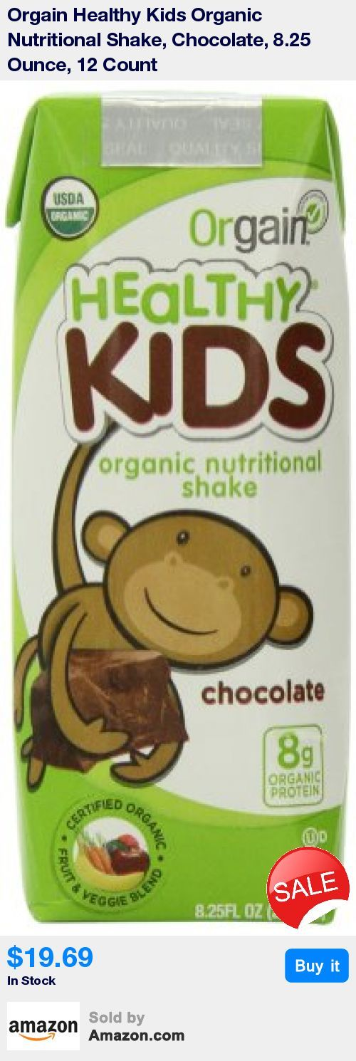 Includes 12 (8.25oz) Healthy Kids Organic Chocolate Nutritional Protein Shakes * Organic nourishment for growing kids.  Perfect for picky eaters, convenient on-the-go meals or lunch-box treats. * 8g Organic Plant Based Protein, 3g Dietary Fiber, 21 Vitamins and Minerals, 200 Calories per Serving * Gluten Free, Kosher, Vegetarian, Non-GMO, Soy Free, Grass Fed.   Free of all artificial colors, flavors and preservatives. * USDA Organic