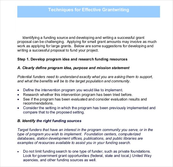 Grant Writing Template 8 Free Word Pdf Ppt Documents Download
